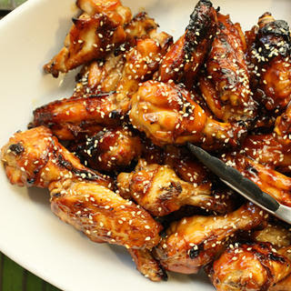 Sweet Soy-Glazed Chicken Wings.