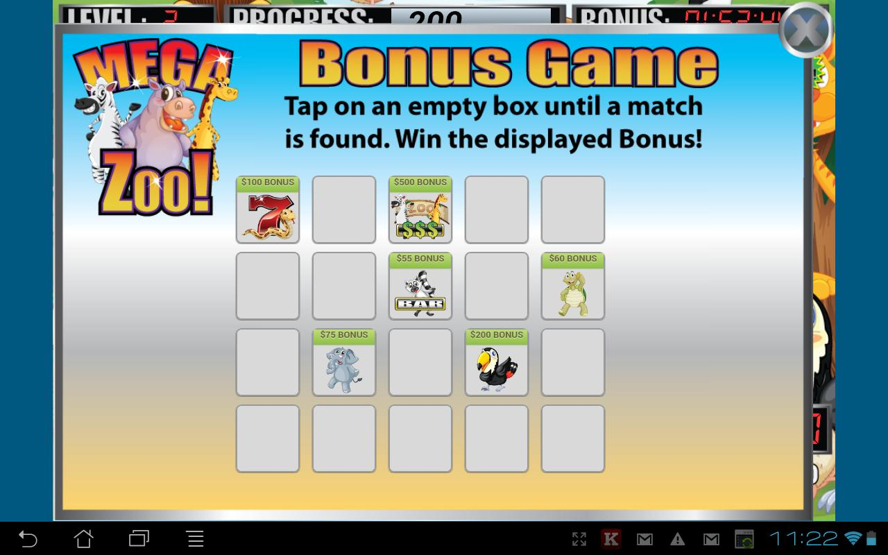 Mega Zoo Slot Machine - screenshot