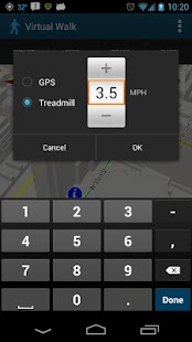 Virtual Walk Treadmill or GPS - screenshot thumbnail