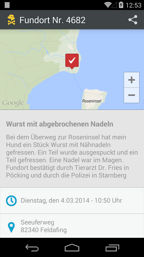 GiftköderRadar- screenshot