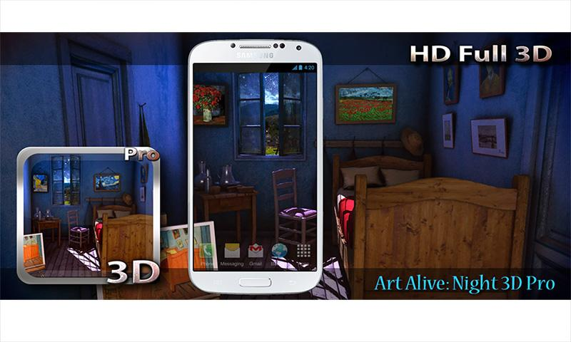 Art Alive Night 3D Pro LWP v1.1 Apk