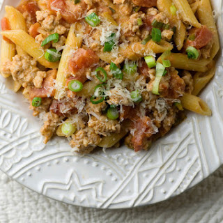 Penne with Tomato Veal Sauce Recipe