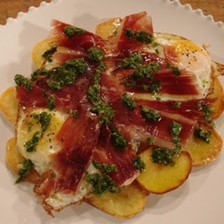 Iberico Ham, Egg and Chips Recipe