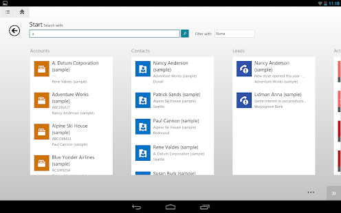 Dynamics CRM for tablets - screenshot thumbnail