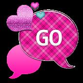 GO SMS THEME/PinkPlaidCloud1