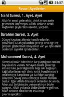 Screenshot of Kuranı Kerim Fihristi, Meali