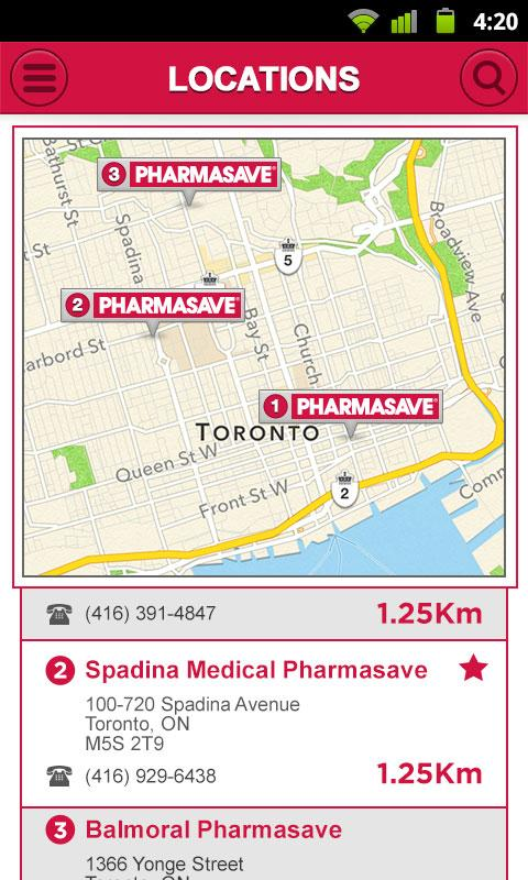 eCare@Pharmasave- screenshot