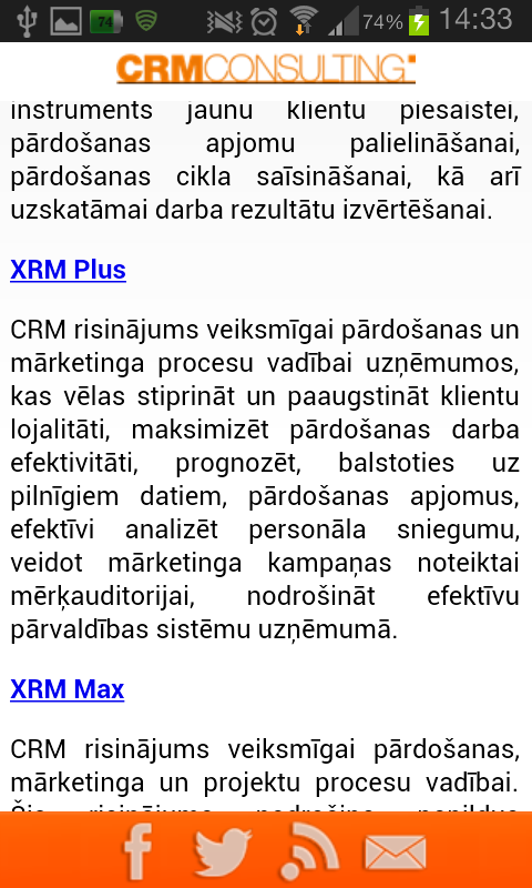 CRMConsulting - screenshot