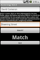 Screenshot of Numerology Calculator