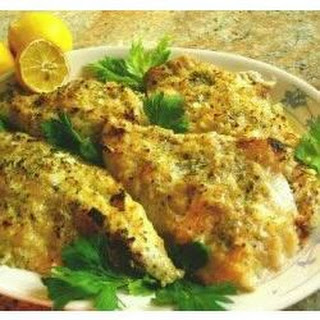 Onion Dijon Crusted Catfish