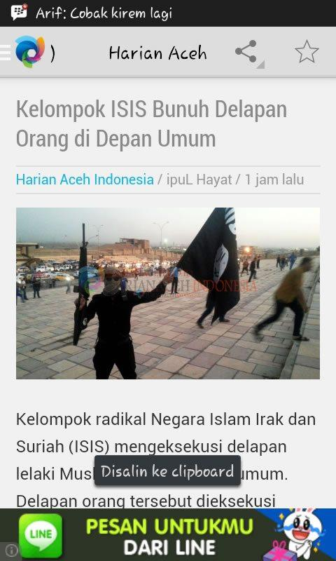 Harian Aceh Indonesia- screenshot