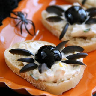 Smoked Trout Pate Spider Bites.