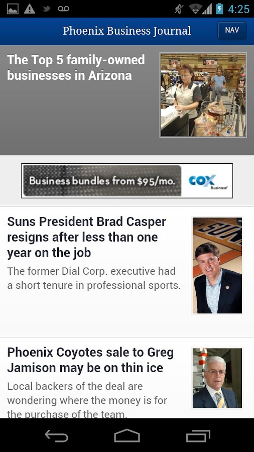 The Phoenix Business Journal- screenshot