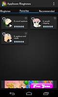 Screenshot of Applause Sound Ringtones