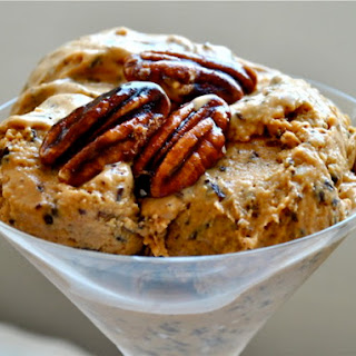 Irish Coffee Ice Cream with Shaved Dark Chocolate and Candied Pecans