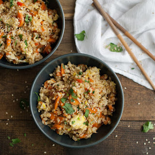 Vegetarian Carrot Fried Brown Rice.