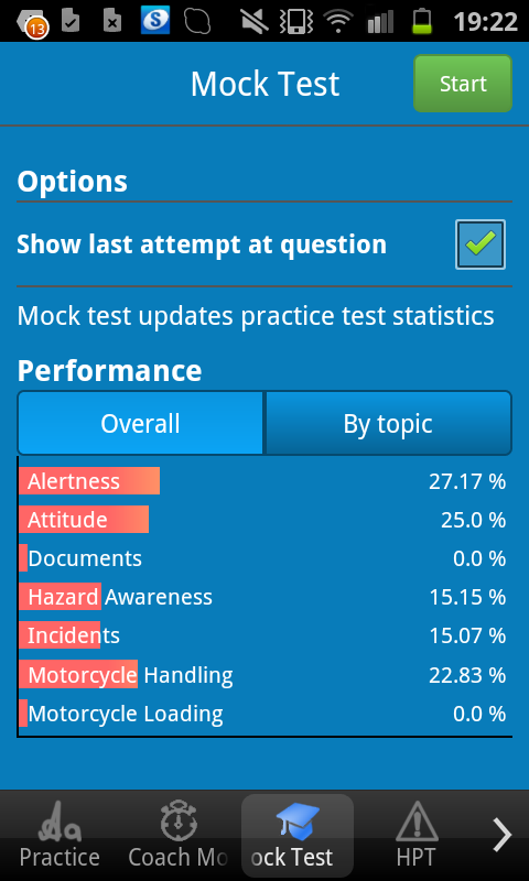 Motorcycle Theory Test - screenshot