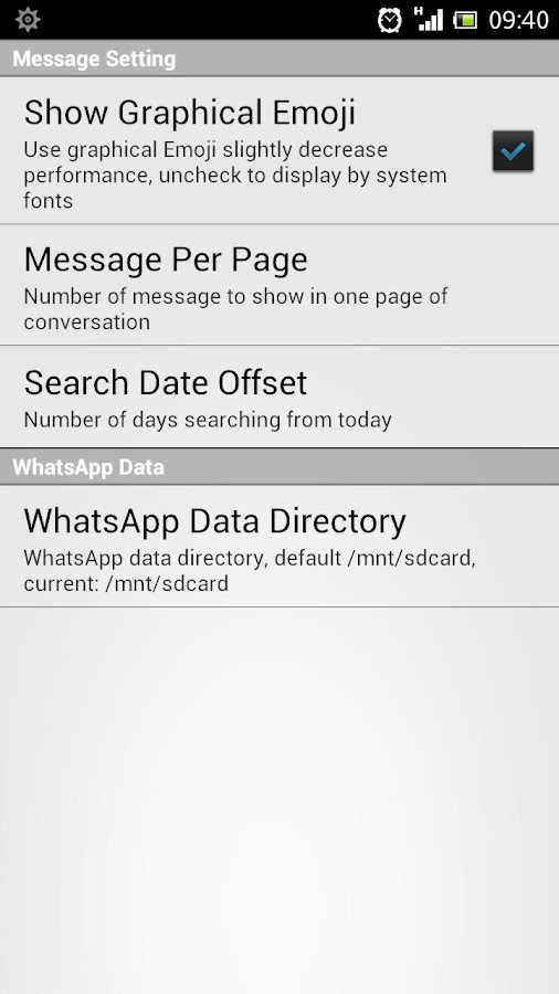 WhatsApp Statistics & History - screenshot