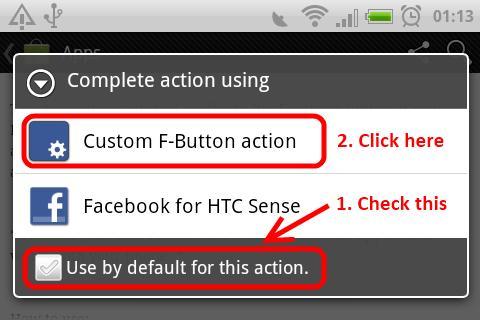 F-Button for HTC ChaCha- screenshot