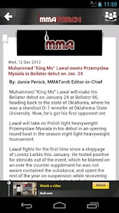 MMA Torch: Live MMA News!- screenshot thumbnail