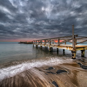 by Marco Carotenuto - Buildings & Architecture Bridges & Suspended Structures ( clouds, pier, sea, bridge, landscape )