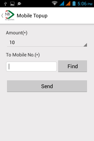 NB Mobile Banking Application- screenshot