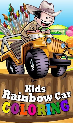 Kids Rainbow Car Coloring