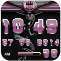 dragon digital clock rose icon