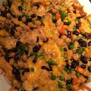 Brown Rice and Black Bean Casserole.