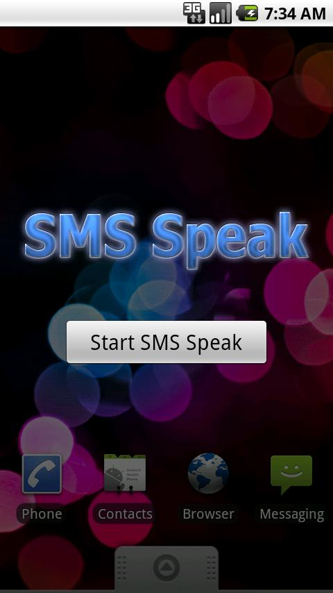 SMS Speak- screenshot