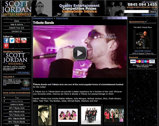 Scott Jordan Tribute Bands
