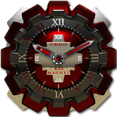 Red Magnet Clock Widget