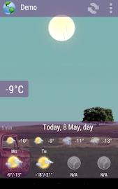 Animated Weather Widget&Clock Screenshot 9