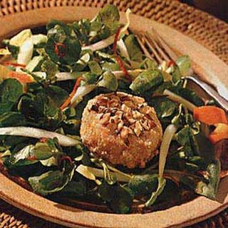 Hazelnut-Crusted Goat Cheese Salad