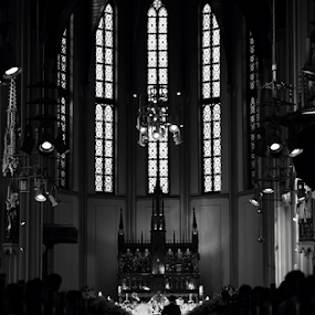 25 Minutes Too Late by Januar D - Black & White Portraits & People ( church, jakarta, cathedral,  )