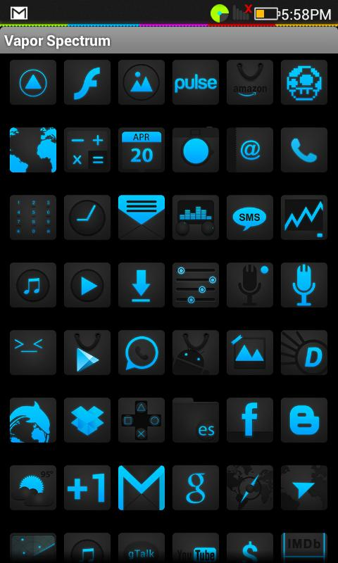 Vapor Ice (Icon Pack) HD *FREE - screenshot