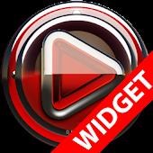 Poweramp widgetpack - Red Glas