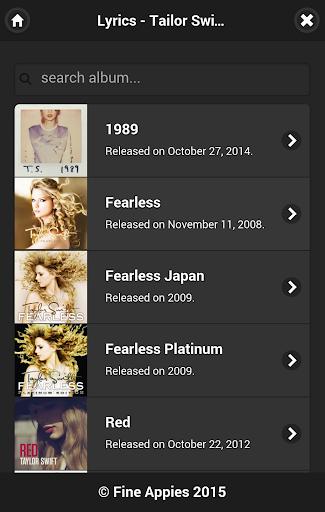 Taylor Swift Lyrics - All