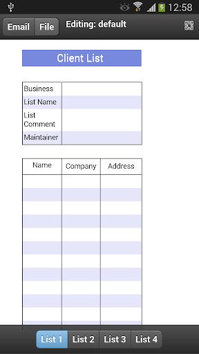 Client List Mobile
