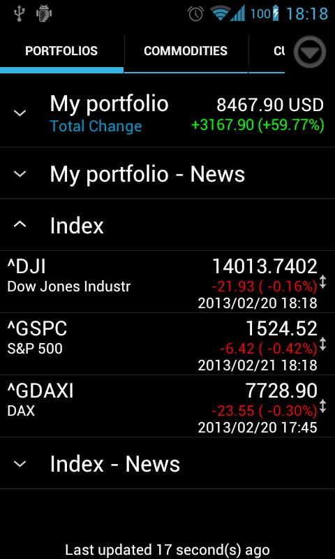 Portfolio Watcher- screenshot