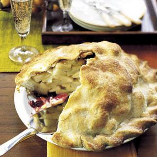 Cranberry-Ribbon Apple Pie