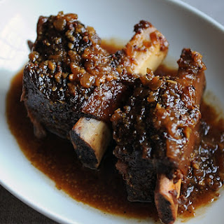 Short Ribs Braised In Beer and Buckwheat Honey