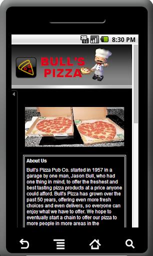 Bull's Pizza App
