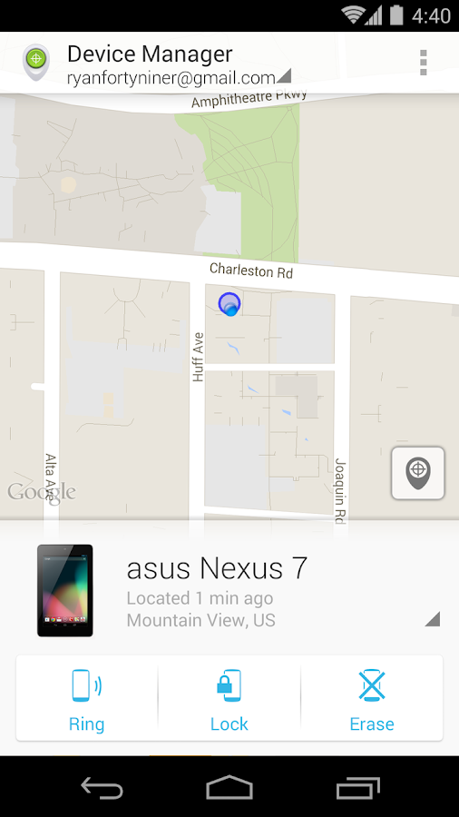 Android Device Manager - screenshot