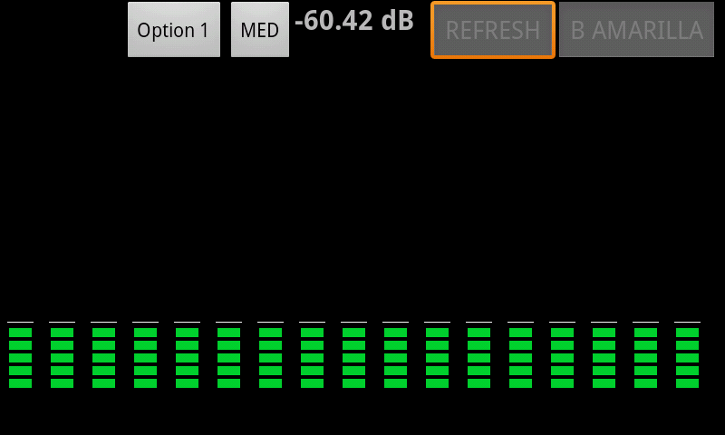 Vumeter -AudioSpectrumAnalyzer - screenshot
