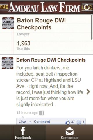 Baton Rouge DWI Checkpoints