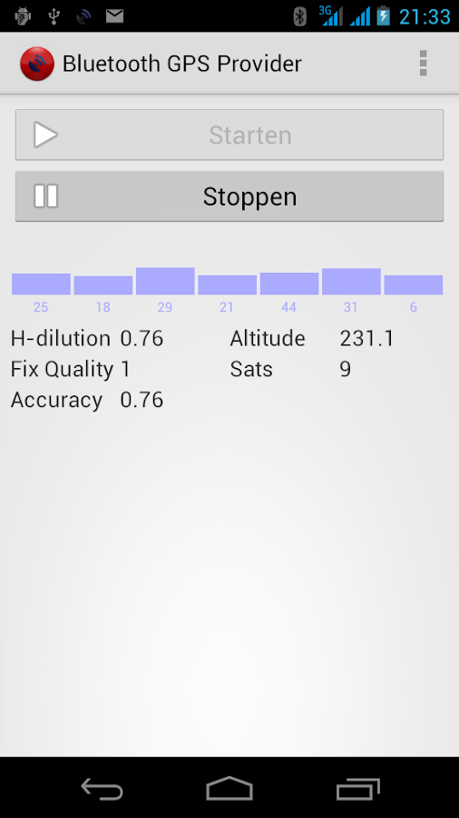 Bluetooth GPS Provider - screenshot