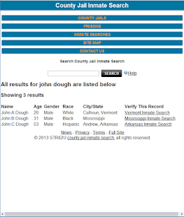 County Jail Inmate Search- screenshot thumbnail