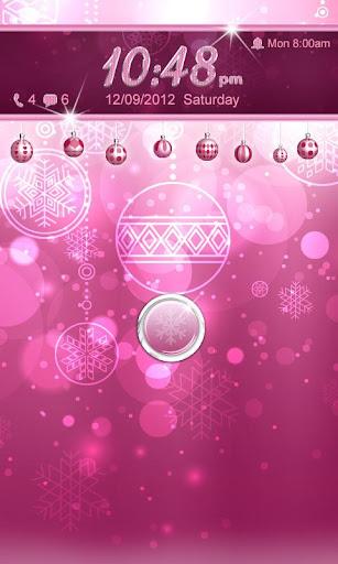 【免費個人化App】Pink Christmas Go Locker Theme-APP點子