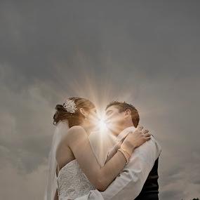 Spark of Love by Alan Evans - Wedding Bride & Groom ( wedding photography, wedding day, wedding, aj photography, bride and groom, bride, groom,  )